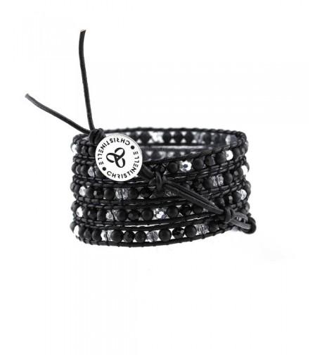 CHRISTINELLE Leather Bracelet Beaded Bracelets