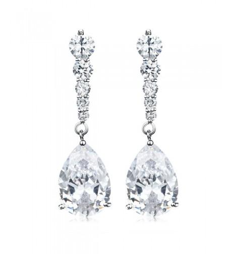 Fashion Jewelry Zirconia Teardrdop Earrings