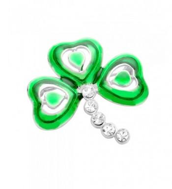 Luck Irish Patricks Shamrock Rhinestone