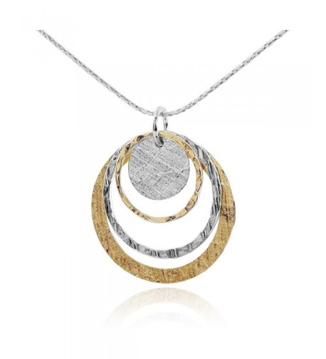 Jewelry Graduated Circles Sterling Necklace
