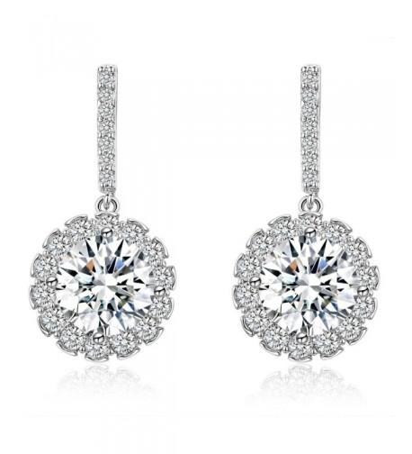 SBLING Platinum Plated Sterling Zirconia Earrings