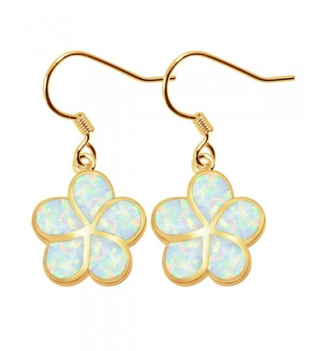 Sinlifu Silver Plumeria Earrings Synthetic