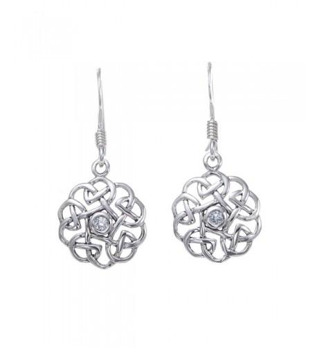 Sterling Silver Celtic Aquamarine Earrings