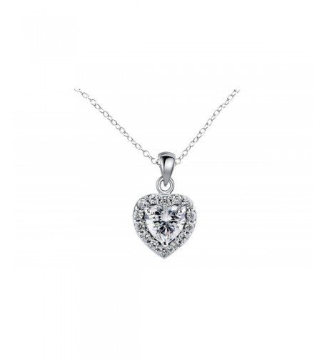 NYC Sterling Zirconia Pendant Necklace