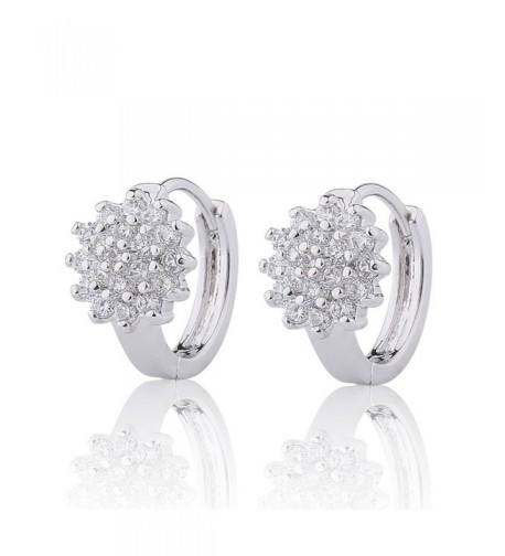 GULICX Jewellery Zirconia Pierced Earrings