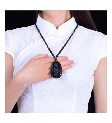 Natural Obsidian Handmade Pendant Necklace