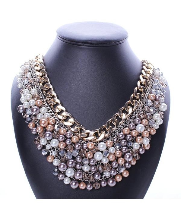 Multi storey Explosion exaggeration fashion necklace