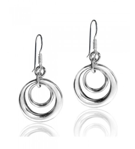 Trendy Concentric Circles Sterling Earrings