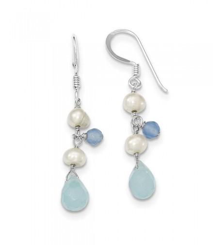Sterling Freshwater Cultured Pearl Earrings