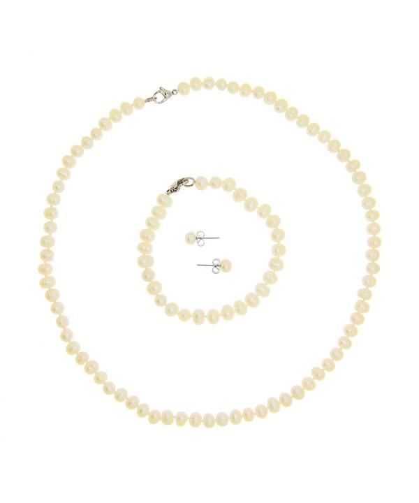 Cultured Freshwater Necklace Bracelet Earrings