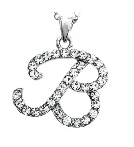 Initial Pendant Necklace Fashion Jewelry