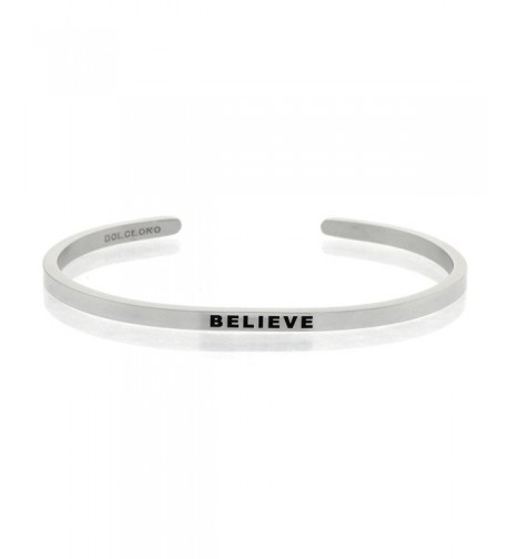 Mantra Phrase BELIEVE Surgical Steel