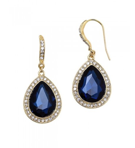 Rosemarie Collections Teardrop Rhinestone Statement