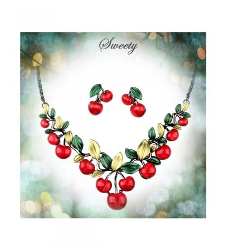 Hamer Jewelry Statement Necklace Earrings