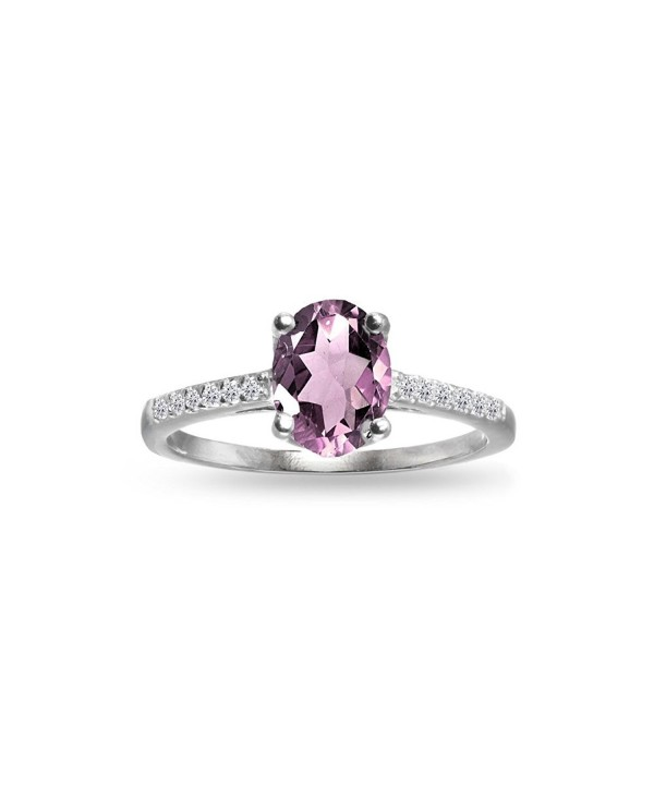 Sterling Silver Simulated Alexandrite White