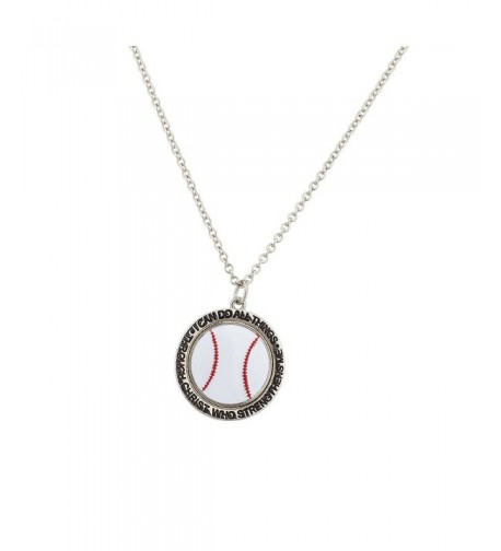 Lux Accessories Baseball Strengthens Necklace
