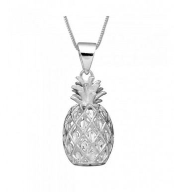 Sterling Silver Pineapple Pendant Chain