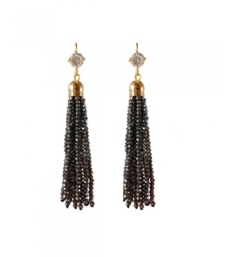 J Shine Created Crystal Earring GE607