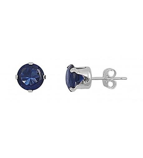 Sterling Silver Round Zirconia Earrings