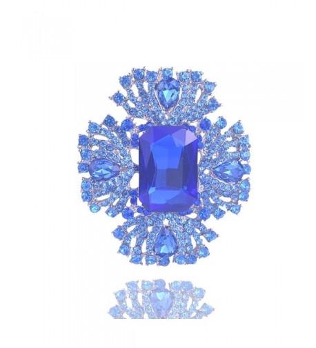 Yilanair Bouque Crystal Brooch Evening
