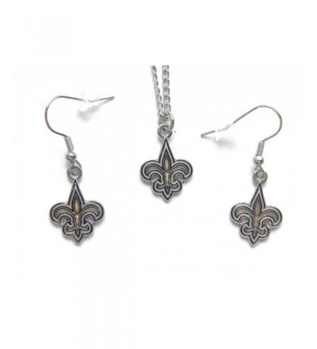Orleans Saints Necklace Dangle Earring