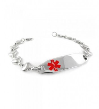 MyIDDr Pre Engraved Customized Penicillin Bracelet