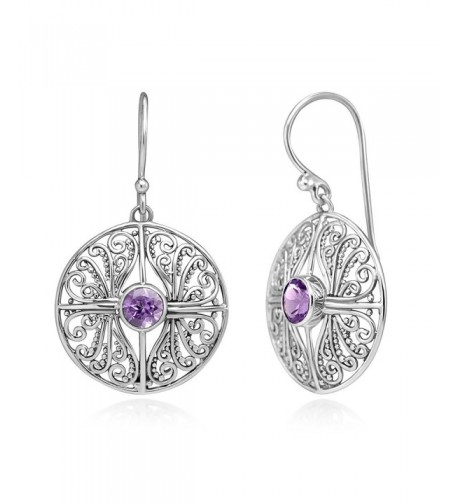 Sterling Filigree Inspired Amethyst Gemstones