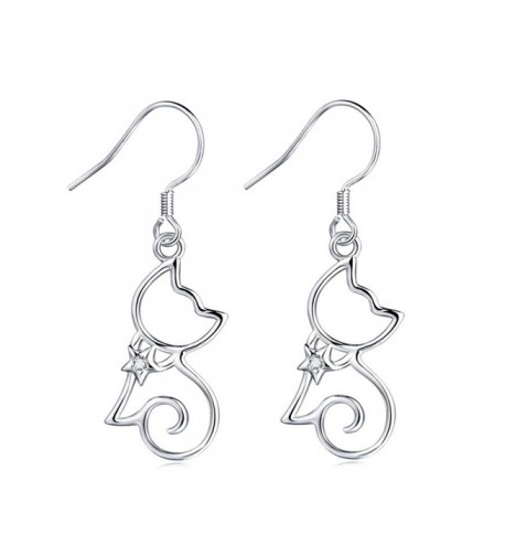 MASOP Sterling Silver Zirconia Earrings
