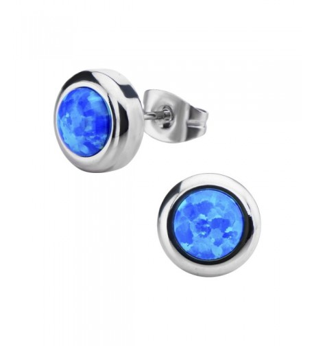 Womens Stainless Steel Synthetic Earrings