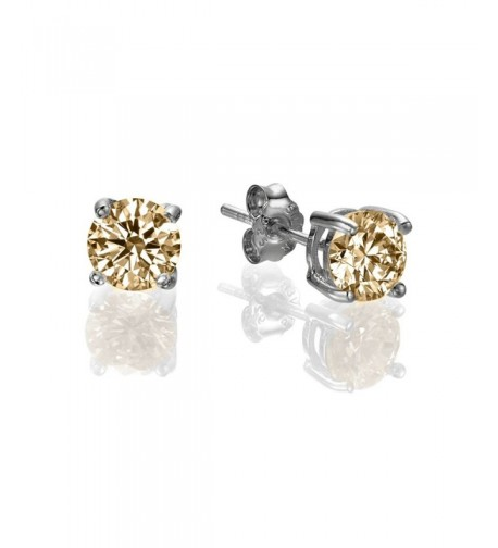 Amber Swarovski Sterling Silver earrings