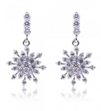 YAZILIND Dazzling Flawless Zirconia Snowflake
