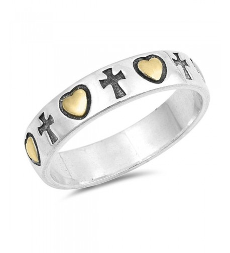 Gold Tone Promise Eternity Sterling Silver