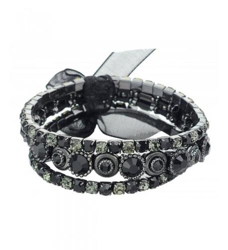 Womens Stone Stackable Stretch Bracelet