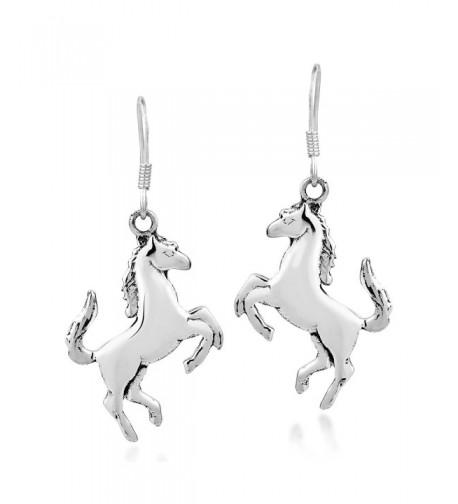 Prancing Equine Sterling Silver Earrings