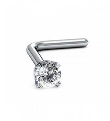 1 5mm Round Cut Diamond White L Shaped 6 4mm