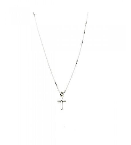 Sterling Silver Cross Nickel Necklace