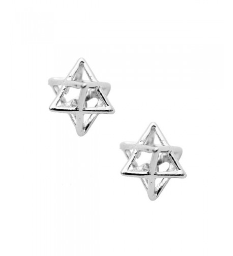 Spinningdaisy Handcrafted Brushed Merkaba Earrings