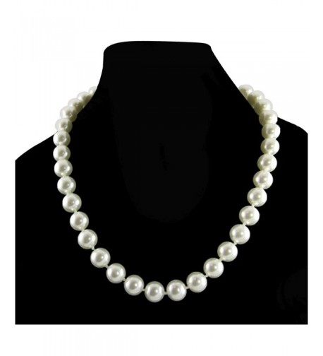 Cream Simulated Necklace Knotted Strand