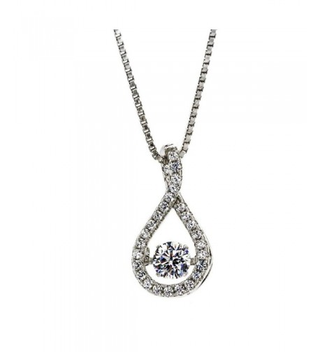 Twisted Dancing Pendant chain Silver Platinum Plated