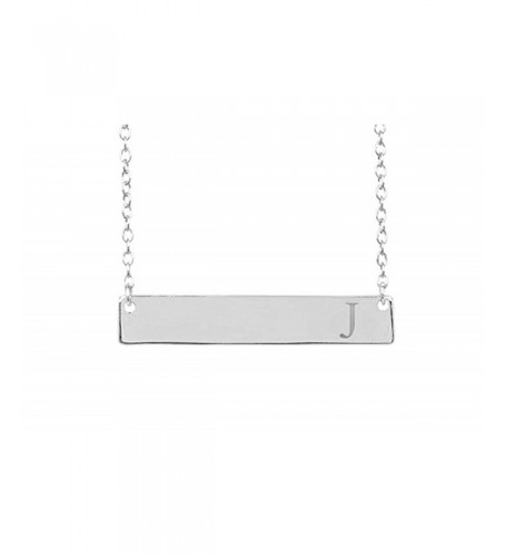 Sterling Silver Initial Necklace Lobster