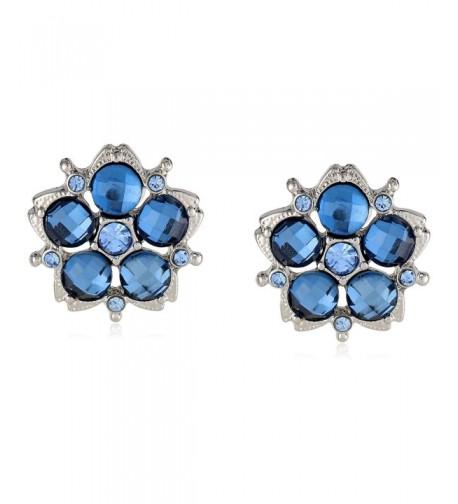 1928 Jewelry Jeweltones Silver Tone Earrings