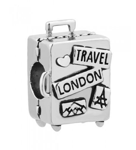 ReisJewelry Travel Charms Bracelets Suitcase