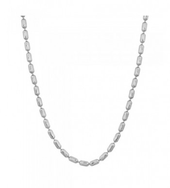 Sterling Silver Diamond Cut Bead Necklace