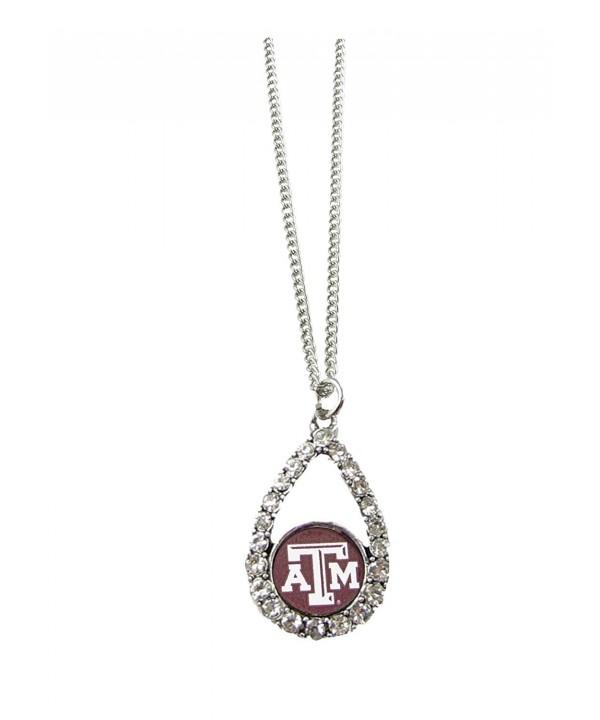 Aggies Teardrop Crystal Necklace Jewelry
