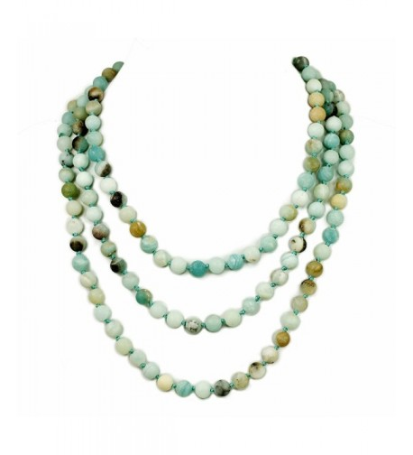 Ny6design Hand Knotted Multi colored Amazonite N16040507f