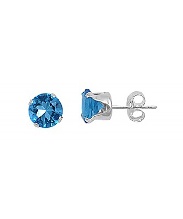 Sterling Silver Round Zirconia Earrings