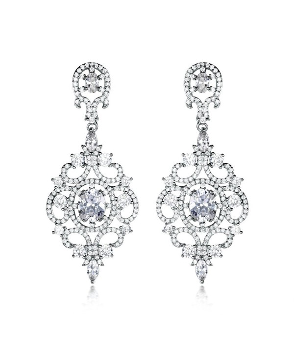 GULICX Fashion Teardrop Zirconia Earring
