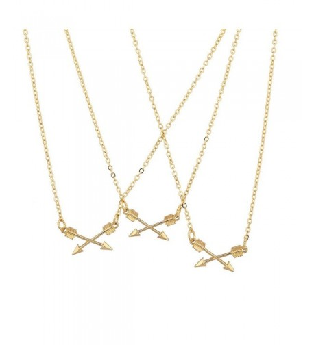 Lux Accessories Crossing Matching Necklace