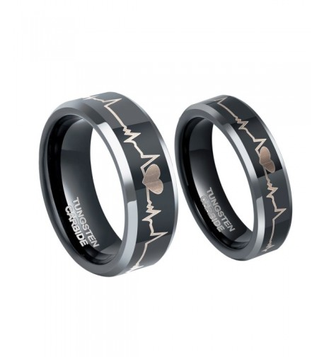 Heartbeat Wedding Tungsten Carbide Anniversary