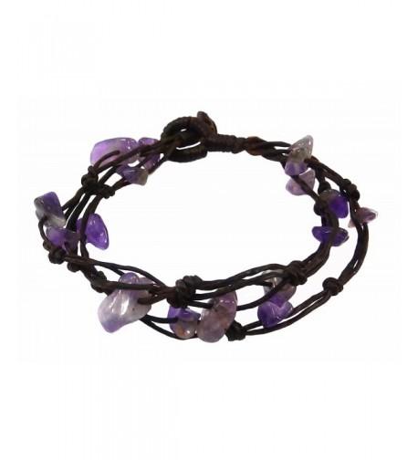 Bijoux Ja Handwoven Purple Bracelet